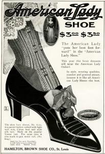 Free vintage clip art Victorian ladies shoe magazine advertisement