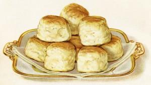 free vintage image, baking powder biscuit image, biscuits on plate, free vintage clipart food, free digital food image for graphic design, free printabe food, food image for crafts, buns on platter