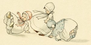 vintage clipart baby, bouncing baby boy, bouncing baby girl, vintage baby illustration, antique storybook baby, dolls playing