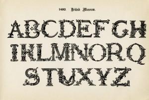 british museum alpha, vintage alphabet, free printable alpha, fancy letters, free vintage clipart alpha