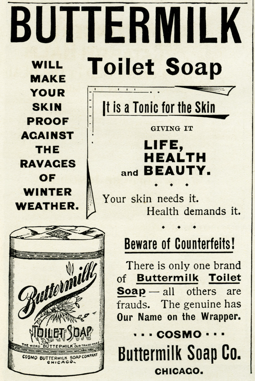 buttermilk toilet soap vintage advertisement, free vintage clipart, vintage advertising image, vintage beauty ad, vintage ephemera, digital clipart for graphic design, free digital image for crafts