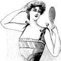 Free vintage clip art French corset advertisement