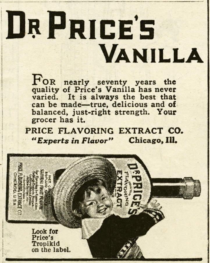 vintage advertisement, dr. price's vanilla, free vintage clipart, vanilla ad