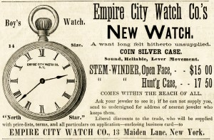 Free vintage watch clip art magazine ad