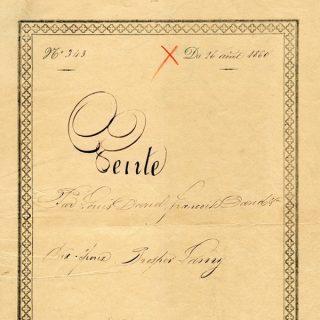 Free vintage clip art French legal sale document