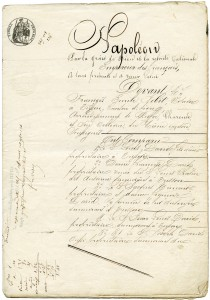 Free vintage clip art French sale document Napoleon