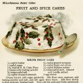 free vintage illustrated fruit cake recipe