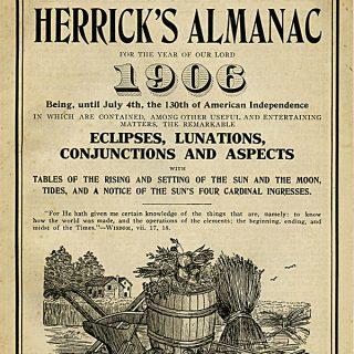 Free vintage clip art Herrick's Almanac 1906