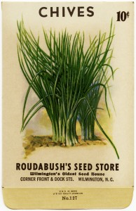 Free vintage clip art garden seed packet chives roudabush store