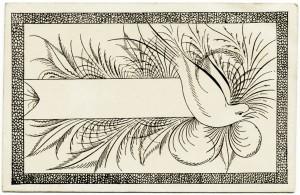 Free vintage clip art Spencerian penmanship Victorian calling card