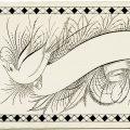 Free vintage clip art Victorian calling card spencerian penmanship