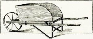 wooden wheelbarrow, vintage wheelbarrow sketch, wheelbarrow clipart