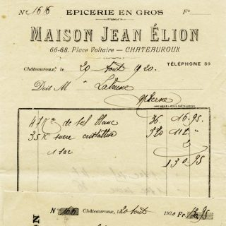 Free vintage clip art French receipt Maison Jean Elion