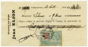 Free vintage clip art French check Maison Jean Elion