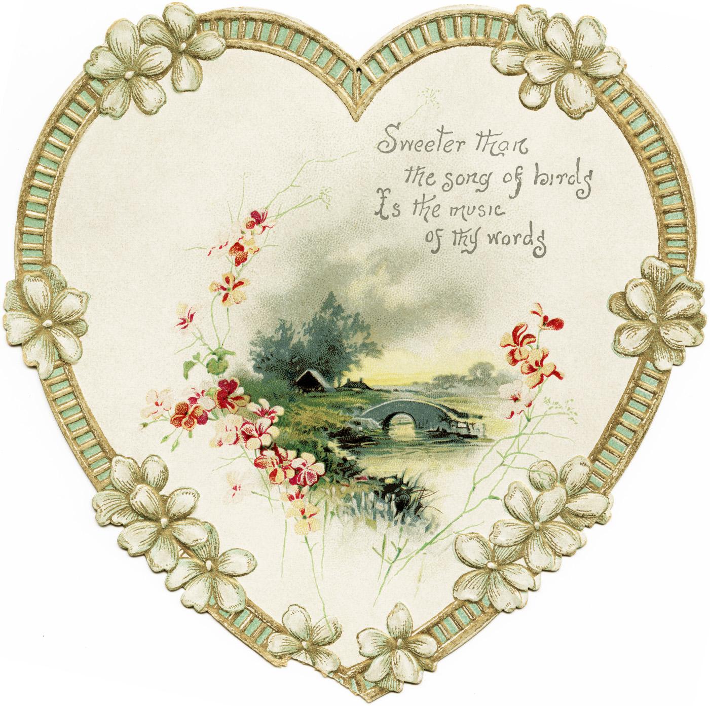 heart shaped scenic card old design shop blog
