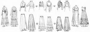 ladies vintage clothing, vintage fashion, vintage women's clothing, 1915 ladies fashion, free vintage image, free vintage clipart clothing