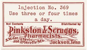 Free vintage clip art pinkston scruggs pharmacy medicine label