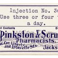 Free vintage clip art pinkston scruggs pharmacy medicine label