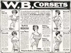 Free vintage clip art W B Corset magazine advertisement