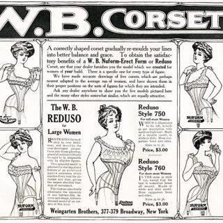 Free vintage clip art W B Corset magazine advertisement