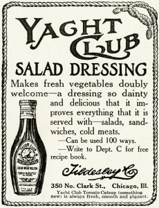 free vintage image, free vintage ad, yacht club salad dressing, vintage advertisement, old magazine ad, vintage clipart ad, old fashioned advertising