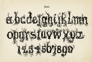 rustic alpha, spooky lettering, free vintage graphic, antique alphabet, old letters and numbers