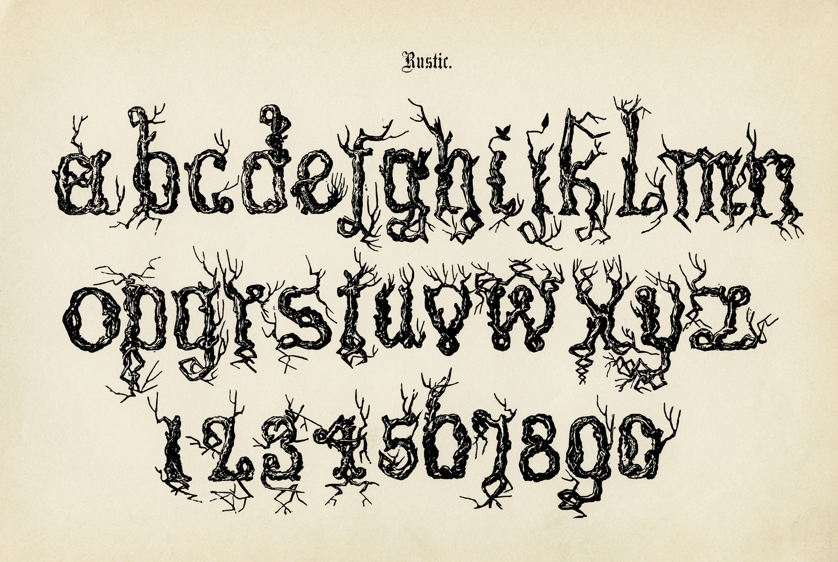 Rustic Alpha Spooky Lettering Free Vintage Graphic Antique Alphabet Old Letters And