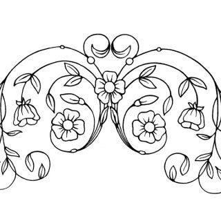 Free vintage clip art flowers swirl design