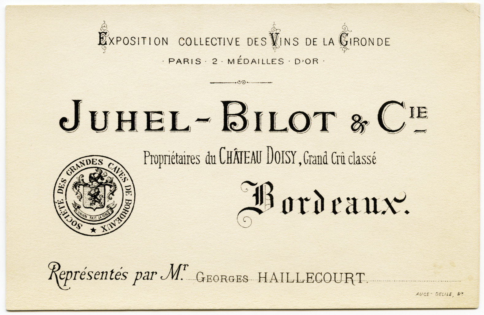 Juhel-Bilot & Cie French Business Card | Old Design Shop Blog