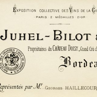 Free vintage clip art French Juhel Bilot Bordeaux business card