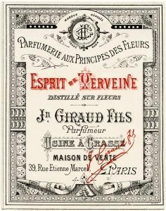 Free vintage clip art French perfume label Jn Giraud Fils