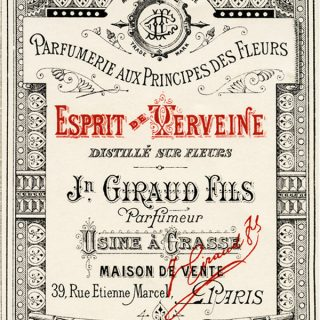 Free vintage clip art French perfume label Jn Giraud Fils
