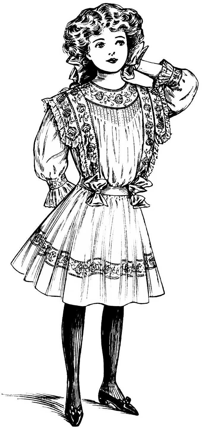 Victorian Girl Clipart Old Design Shop Blog