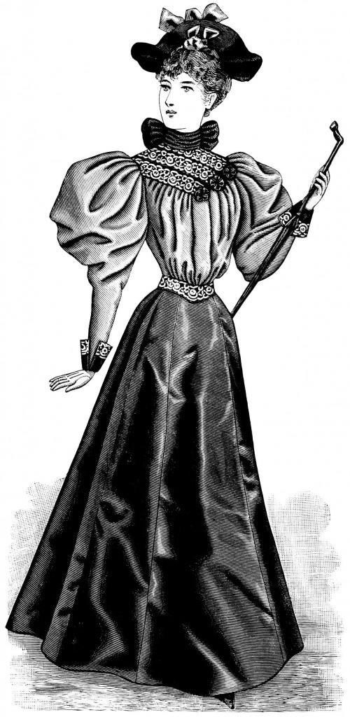 Victorian Lady Clip Art - Old Design Shop Blog