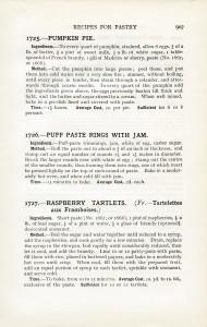 Free vintage printable pastry recipe