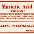 free vintage poison label muriatic acid fuhrmans pharmacy