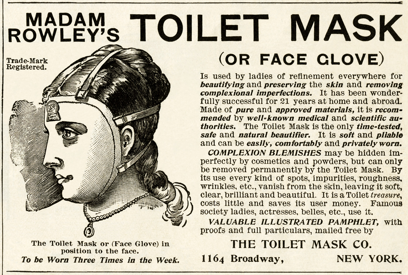 Madam Rowley's Toilet Mask Ad - Old Design Shop Blog