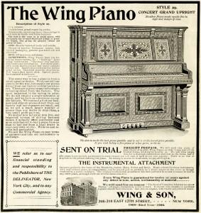vintage piano ad, wing piano image, piano clipart, free piano graphic, vintage magazine ad