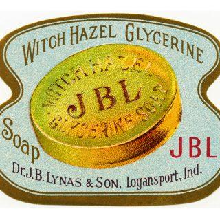 Free vintage witch hazel label clip art
