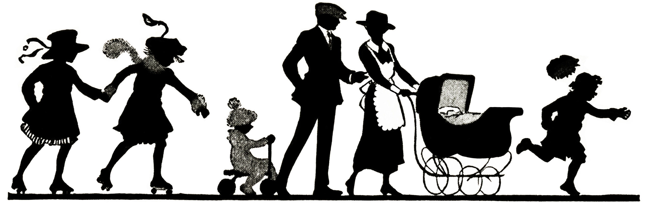 Family Stroll Silhouette