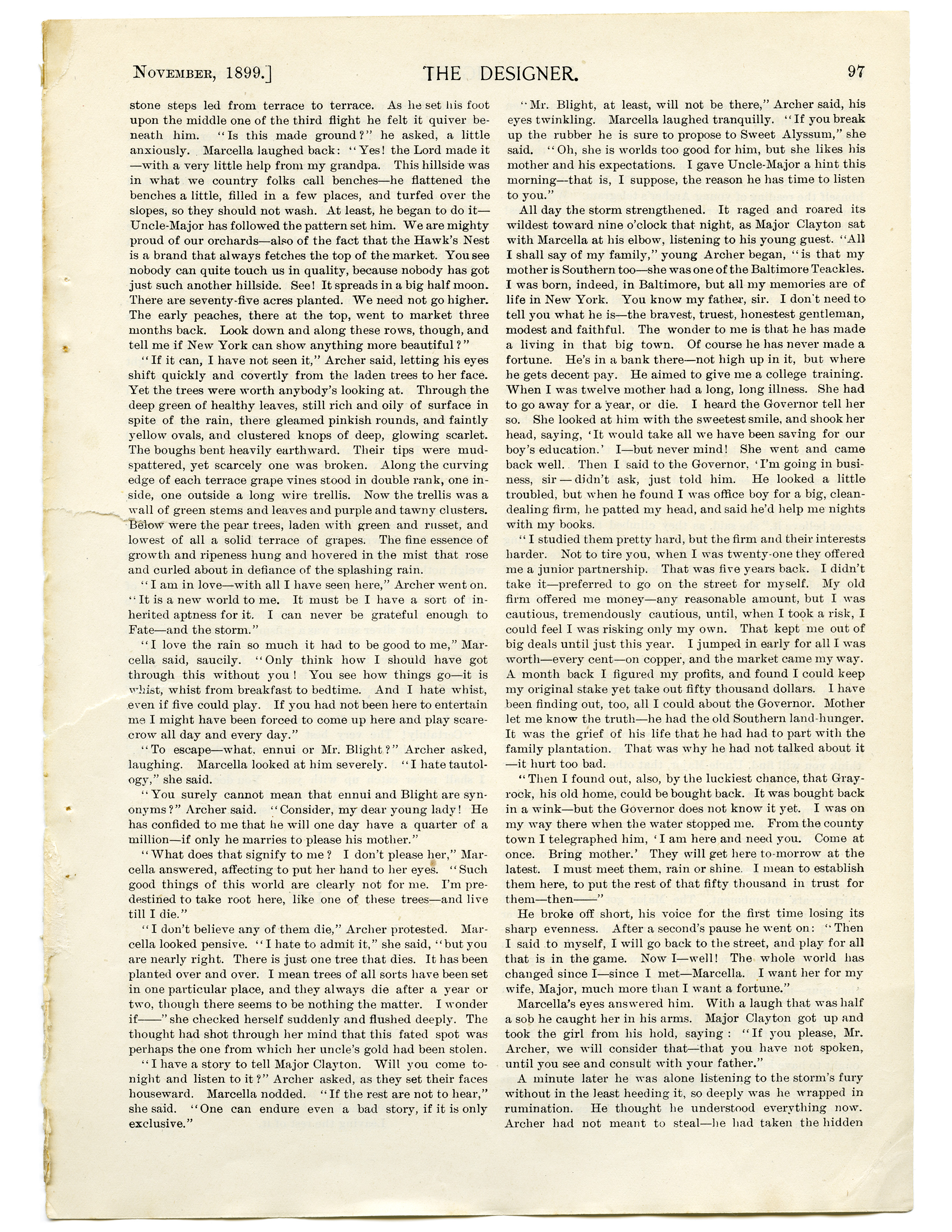 free vintage graphic full page of english text