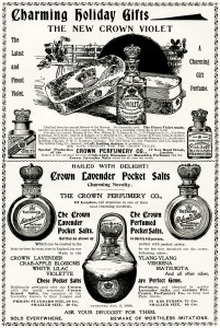 Free vintage clip art Crown Perfumery magazine advertisement