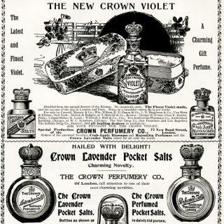 Free vintage clip art Crown Perfumery magazine advertisement