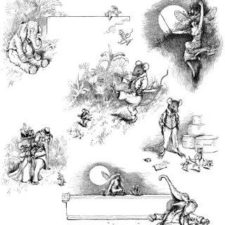 vintage storybook clip art illustration
