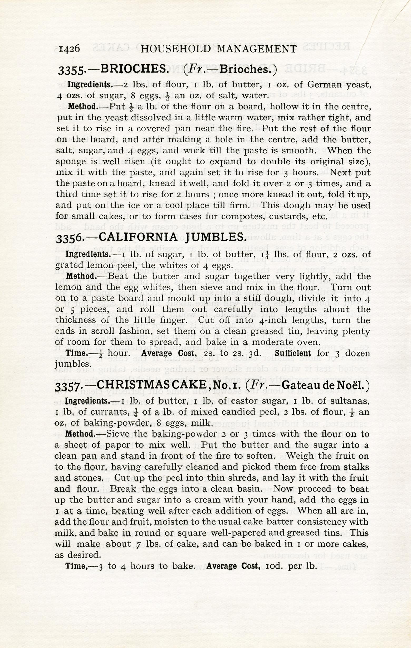free vintage cookbook page christmas cake recipe