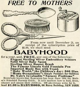 Free vintage baby items magazine advertisement