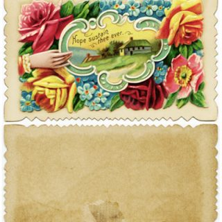 free Victorian calling card clip art roses