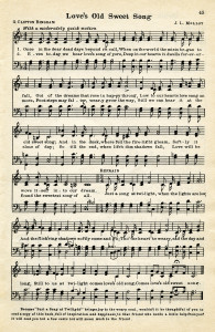 free printable vintage love song sheet music