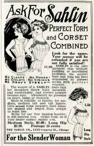 Free vintage clip art Sahlin corset magazine advertisement