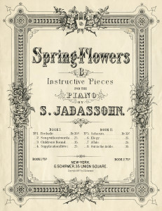 vintage sheet music, spring flowers, music sheet cover, digital music graphic, sheet music image